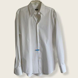 Versace Collection white button down dress shirt